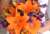 wedding orange and purple