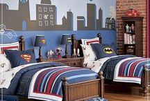 A Teen Boy's Bedroom / Ideas for a Lego mad, super-hero cartoonist near teenage boy