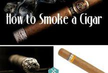 Smoke a torch cigar / Torch cigar