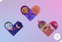 Uniões improváveis / O designer e ilustrador filipino Dan Matutina criou um projeto unindo adversários (bem conhecidos por nós) em um só coração. Nomeado como Versus/Hearts, o projeto existe há aproximadamente dois anos e continua sendo atualizado em um Tumblr. Matutina já uniu Batman & Coringa, Darth Vader & Obi-Wan, Tom & Jerry, Guerra & Paz e até iOS& Android. Segundo o designer, rivais se odeiam, mas, no fundo, sabem que não podem existir sem o outro.