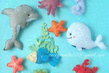 Ocean/Sea Felt Ornaments