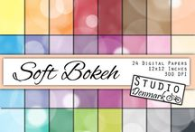Glitter, Metallic and Bokeh Backgrounds and Graphics