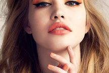 Orange & peach- make up inspiration- narancs és barack smink inspirációk