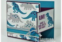 Dinosaur Stamped Cards