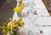 Yellow wild wedding flowers