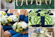 cobalt + green wedding