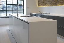 White grey timber kitchens