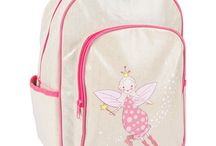 Big Kid Backpacks _ Apple and Mint / Our backpacks are made of a water-resistent easy clean coated linen exterior and offer a range of cool designs suitable for your growing child.  Ideal for daycare, the park, travelling or sleep-over's! It's perfect for keeping up with your child's lifestyle.  Ages 4yrs +