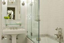 vanity next to bathtub
