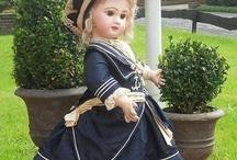 Платья морской стиль, античные куклы