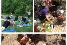 Farm Tour at Even'Star Organic Farm & Yoga! / A day at Even'Star Organic Farm and outdoor yoga with Rachel Wimberly!