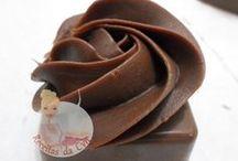 ponto do chocolate para cupcake