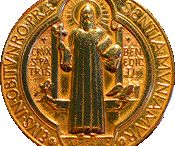 St. Benedict / So that in all things God may be glorified (1 Pet 4:11). Rule of St. Benedict 57:9