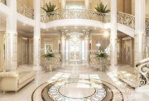 Дизайн дома в классическом стиле в Питере / Дизайн дома в Питере выполнен в классической манере студией Анжелики Прудниковой. В гостевой комнате много свободного пространства. Ядро оформления – светлые, благородные цвета,  которые мастерски передают  атмосферу классицизма. Мягкая мебель лаконично вписана в интерьер и является логическим продолжением.