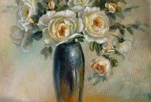Kwiaty obrazy olejne