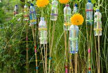 gartendeko plastikflaschen