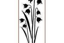 Imagination Crafts Panel Stencils / High quality Mylar stencils. 188 x 78mm (7.5 x 3 ins)