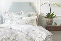 Annie Selke Luxe / The subtle & serene Annie Selke Luxe bedding & accessories collection is the culmination of my lifelong love of textiles. In creating Annie Selke Luxe,  I sought out the best weaving, finishing & printing mills in Europe. Crafted from the world's finest fibers, this exquisite collection of sheets, matelasses, duvet covers & accessories expresses my personal sense of pattern, texture & color: classically beautiful, timelessly luxurious solutions for your master bedroom.  / by Annie Selke