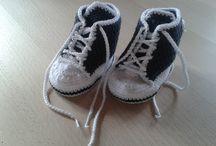 hæklet sko