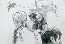 Urban sketch - people
