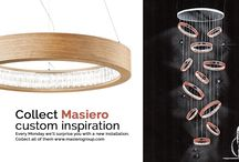 Installation / Sketches made mixing Masiero's lamps