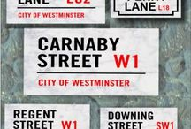 LONDON STREET SIGNS / http://www.houseandgardenplaques.co.uk/solid-marble-street-sign-london-style