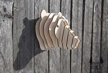 """Home decor / The trade artel """"Two Axes"""" offers a series of decorative animal's heads."""