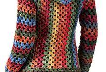 Háčkované dlhý sveter