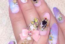 złota folja nails