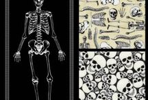 No Bones About It! / Cool Halloween Fabric