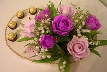 Crepe paper, sweet bouquets -Sladké kytice z bonbonů - My Handmade