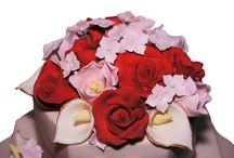 Sugar Flowers   Chocolate Rose Cakes / hand made sugar flowers