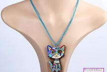Cute laser cut cat jewelries / #catjewelry #catnecklace# girlnecklace