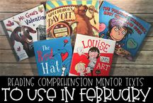 Mentor Texts for Reading Comprehension Skills / I love using picture books to teach upper elementary reading skills to my third, fourth, and fifth graders. Here are my favorites from month to month.