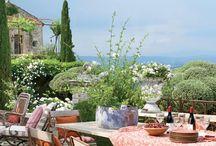 Jardines francses y casas