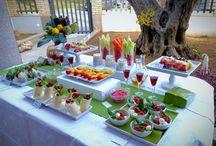 Mesa Crudites y frutas