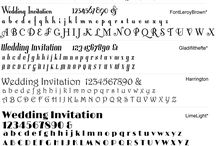 Invitation Fonts