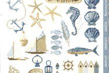 cross stitch - sea
