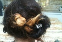 Plait and hair ideas / Easy style to do , just have messy hair and do. Basic plait and then link it with a scruffy bun placing a sparkly clip in centre of the bun and securing with curvy clips