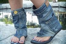 chanclas y botines en jean