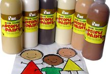 School Tempera Paint Projects / Great fun and colourful projects for the school classroom using tempera (temporary) poster paint.