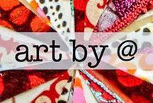 artbya  collage / artbya hand cut paper collage paintings  www.artbya.com