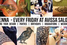 Henna @ Avissa Salon Spa / Avissa Salon is now offering Henna tattoos every Friday by appointment!!!