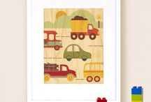 // Theme: Transportation Toys + Decor // / Trains, planes, cars, trucks, buses, rocketships...if it beeps, zips, or zooms, we love it!  / by Petit Collage/Lorena Siminovich