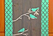 diy floral birds and earthy projects