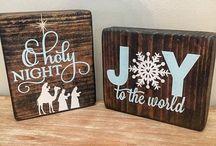 houten bord kerst