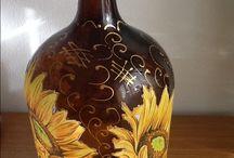 botellas y frascos decoradas