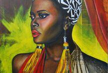 Peintures art africain