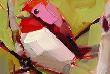 Птицы мастихин