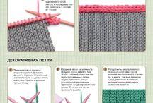 Отделка вязания